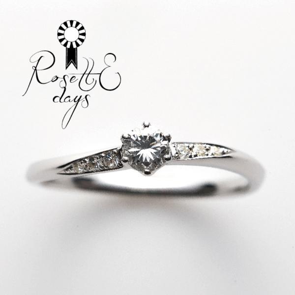 ロゼットデイズ華奢婚約指輪エンゲージリングプロポーズ神戸三ノ宮兵庫姫路garden