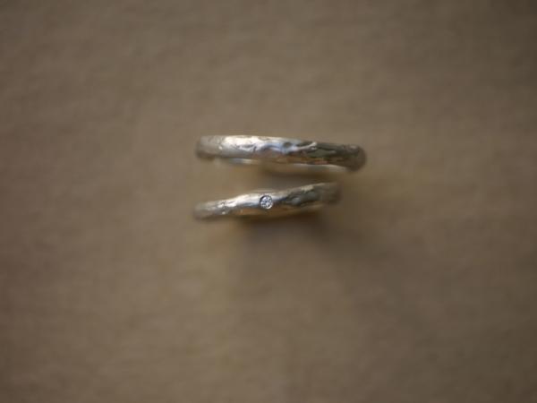 槌目ユカホウジョウ指輪YUKAHOJOマンゴーツリー結婚指輪・マリッジリング安い神戸三ノ宮兵庫5