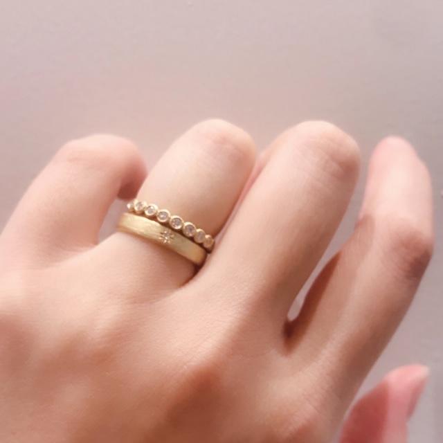 幅太アンティーク指輪ユカホウジョウWeave結婚指輪神戸三ノ宮兵庫姫路garden7