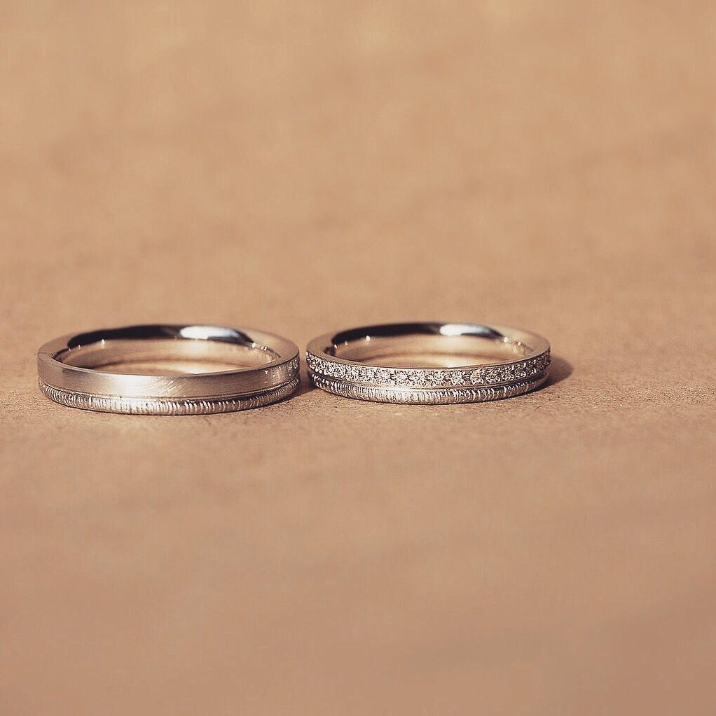 YUKAHOJOの結婚指輪Pathプラチナ