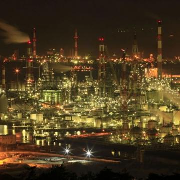 神戸のサプライズプロポーズ 水島コンビナート工場夜景