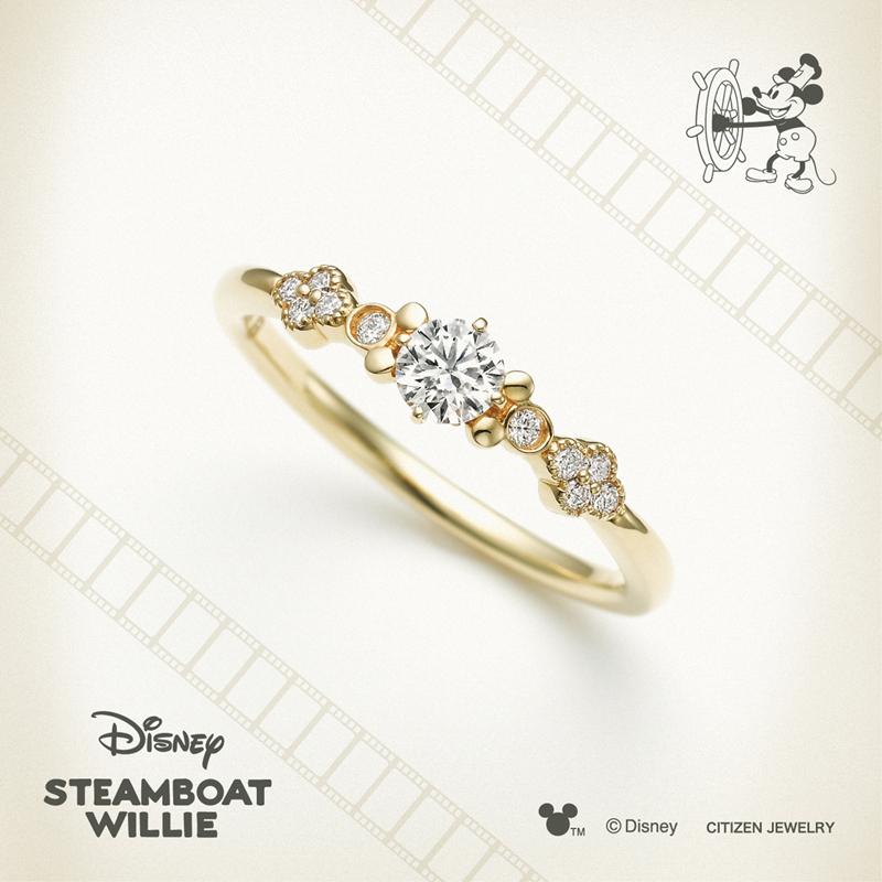 ディズニーミッキー婚約指輪おしゃれ神戸市三ノ宮