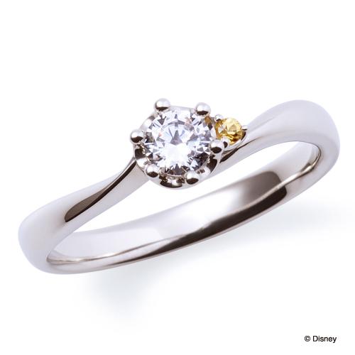 美女と野獣婚約指輪キュート神戸市三ノ宮