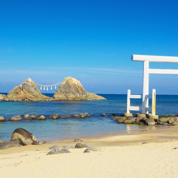 神戸のサプライズプロポーズ 糸島の夫婦岩