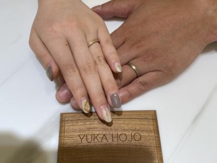 明石市 YUKAHOJOの結婚指輪をご成約頂きました