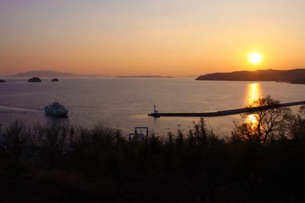 牛窓の夕陽|岡山県プロポーズスポット