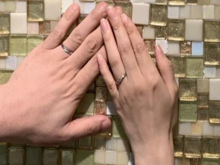【兵庫県明石市】Something Blueの結婚指輪をご成約頂きました。