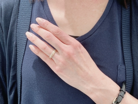 神戸市兵庫区 MAILEの婚約指輪をご成約いただきました
