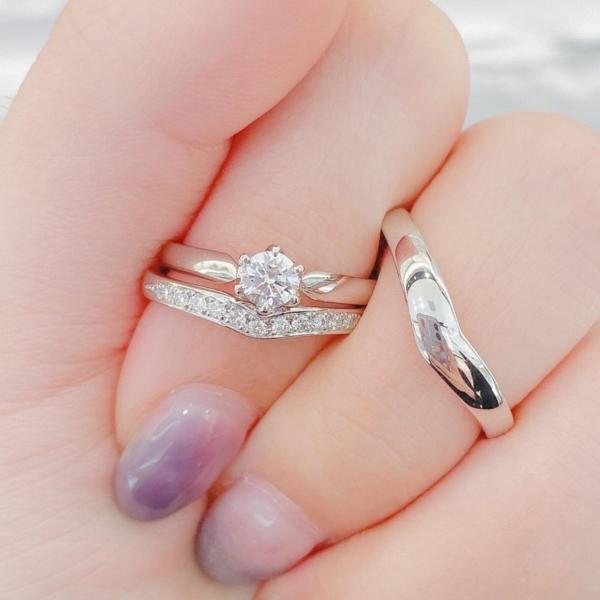 神戸市RosettE結婚指輪波紋重ね付け