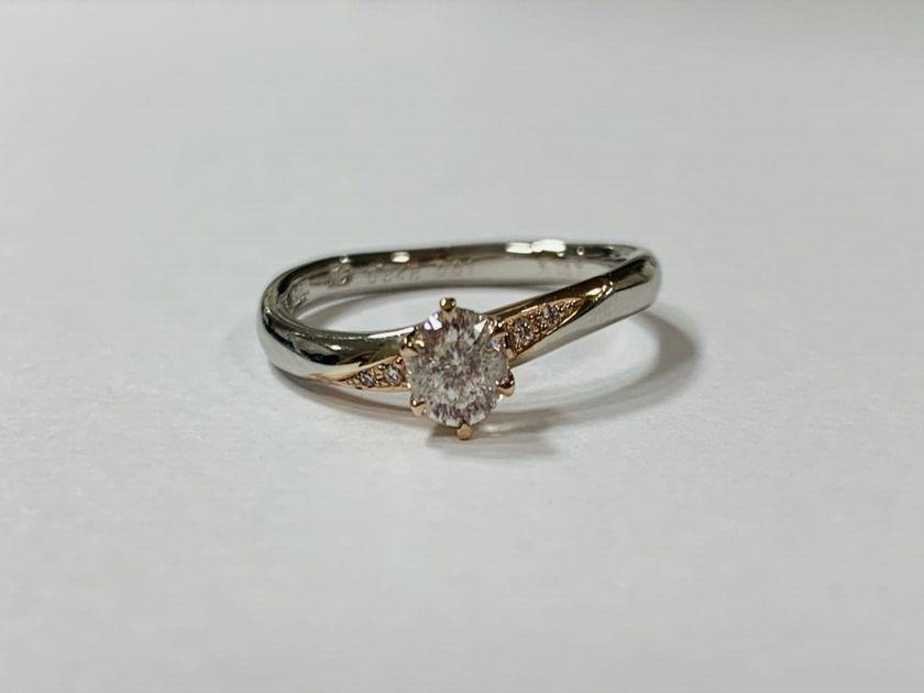 誕生日に購入した大切なダイヤモンドネックレスを婚約指輪にジュエリーリフォーム