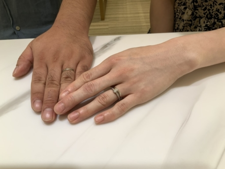 神戸市北区 nocur(ノクル)の結婚指輪をご成約頂きました。