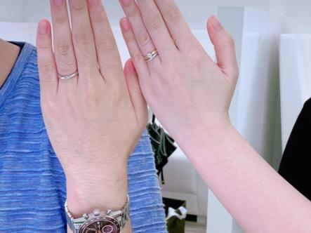 明石市 QuanddeMariageの結婚指輪をご成約頂きました。