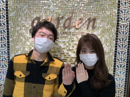 兵庫県・篠山市 CANDLE(キャンドル)の結婚指輪。