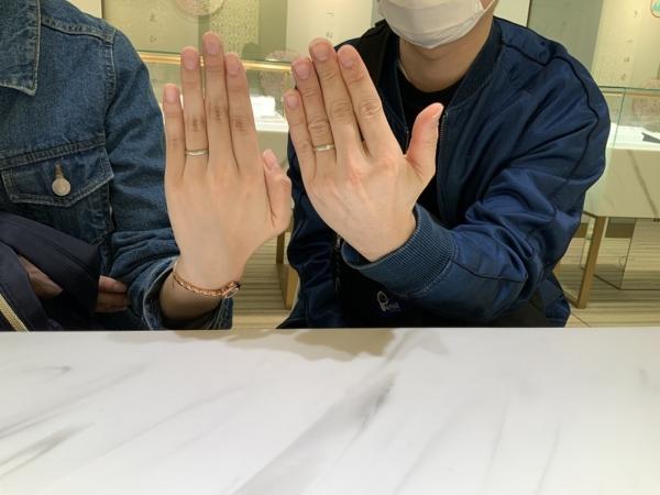 神戸市垂水区  FISCHER(フィッシャー)の結婚指輪。