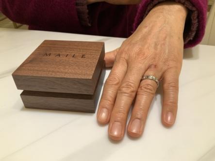 兵庫県宝塚市 MAILEの指輪をご成約頂きました