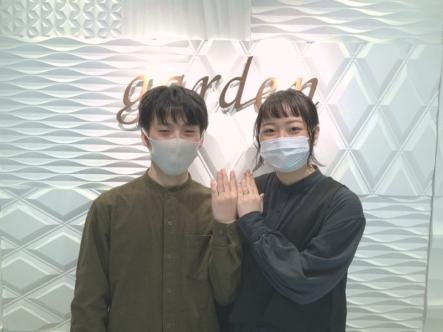 神戸市中央区 AMOURAMULETの婚約指輪とFISCHERの結婚指輪をご成約頂きました