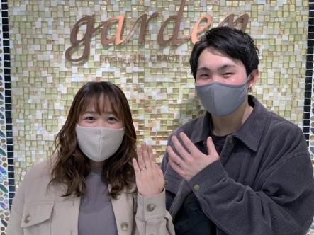 豊岡市 YUKAHOJOの婚約指輪、結婚指輪をご成約頂きました