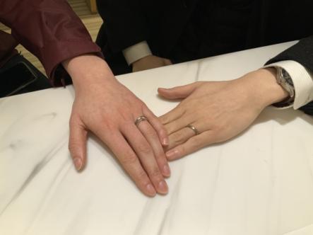 西宮市 YUKAHOJOの結婚指輪をご成約頂きました