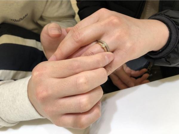 神戸市北区 YUKAHOJOの婚約指輪と結婚指輪をご成約頂きました