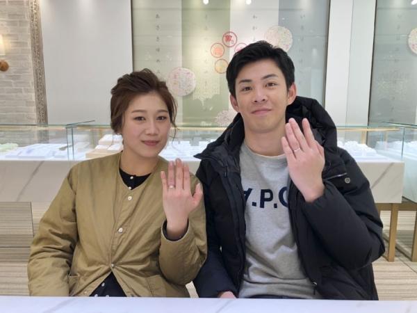 岡山県倉敷市 YUKAHOJOの婚約指輪とFISCHERの結婚指輪をご成約頂きました