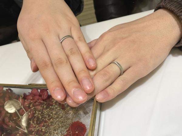 神戸市灘区 FISCHERの結婚指輪をご成約頂きました