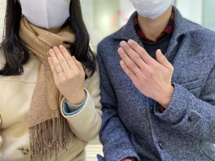 広島県広島市 エトルとフィッシャーの結婚指輪をご成約頂きました