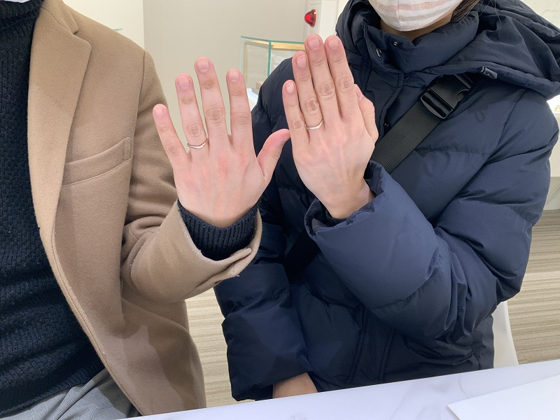 加古川市 nocur(ノクル)の結婚指輪をご成約頂きました。