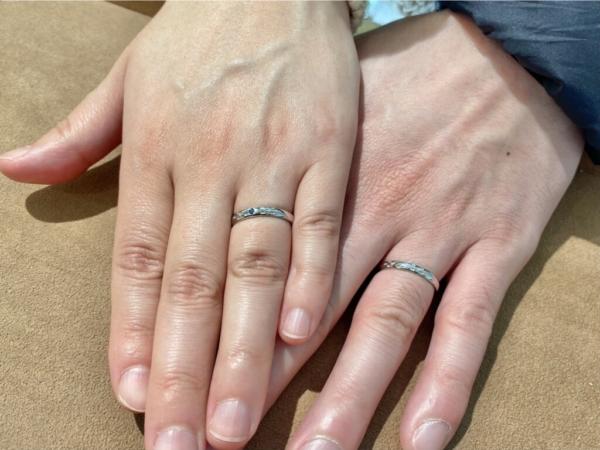西宮市 ミンサーリングの結婚指輪をご成約