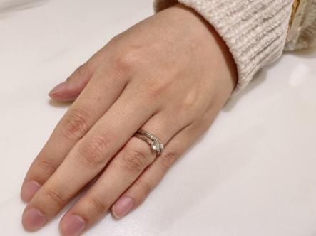 姫路市 LAPAGEの婚約指輪をご成約頂きました。