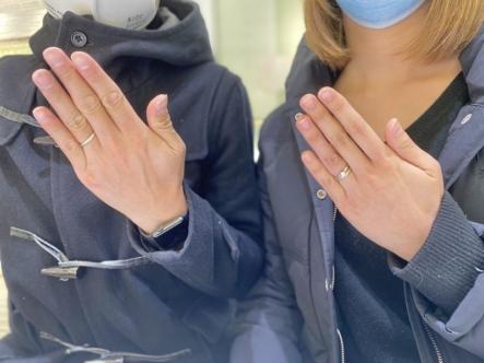 長田区 FISCHERの結婚指輪をご成約頂きました。