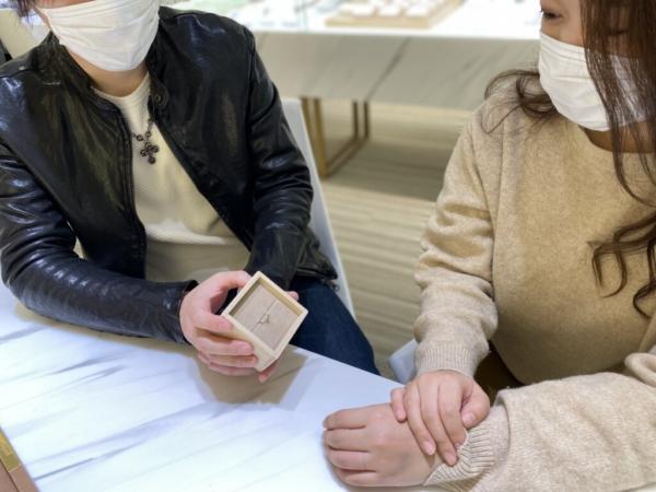 姫路市 YUKAHOJOの婚約指輪をご成約頂きました