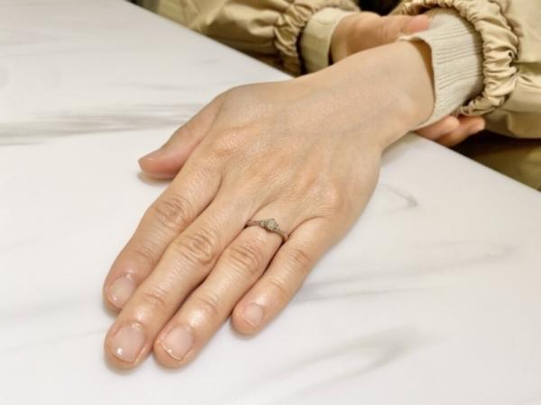 芦屋市 gardenオリジナルの婚約指輪をご成約頂きました。