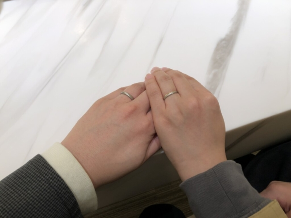 神戸市中央区 FISCHERの結婚指輪をご成約頂きました。