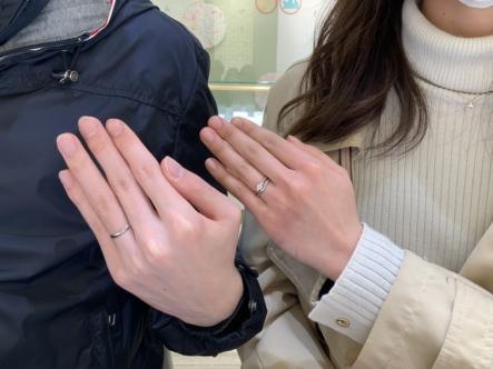 吹田市 HOSHInoSUNAの婚約指輪 FISCHERの結婚指輪をご成約頂きました。