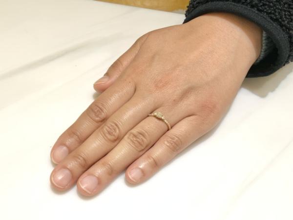 尼崎市 YUKAHOJOの婚約指輪をご成約頂きました。
