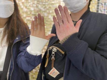 神戸市長田区 Pulitoの結婚指輪をご成約頂きました。