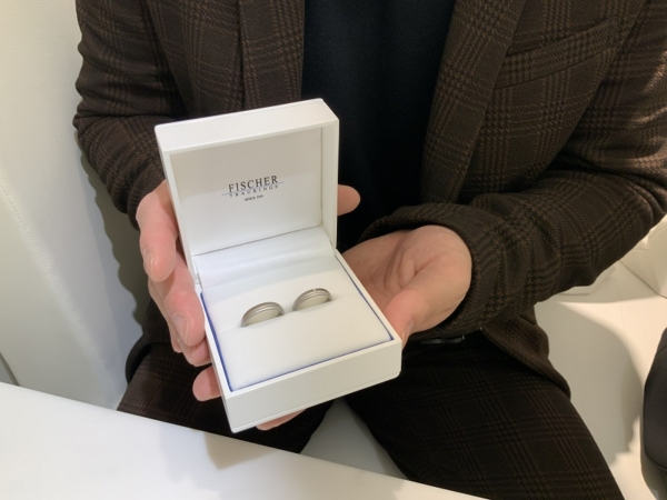 西宮市 FISCHERの結婚指輪をご成約頂きました。