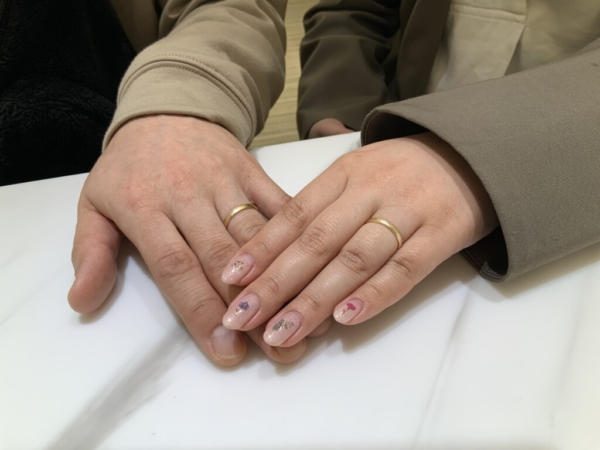 箕面市 FISCHERの結婚指輪をご成約頂きました