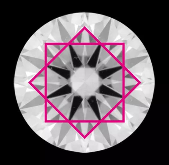 通常の58面体ダイヤモンドカット 画像