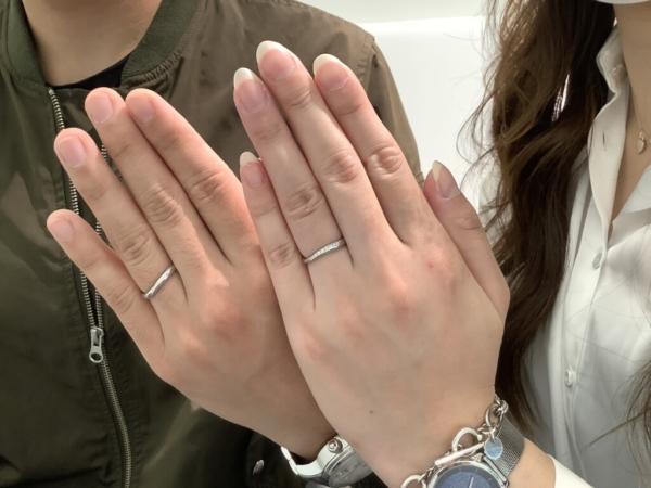 兵庫県尼崎市 Mariage Entの結婚指輪をご成約頂きました