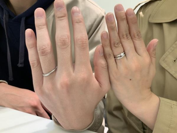 明石市 et.luの婚約指輪と結婚指輪をご成約頂きました