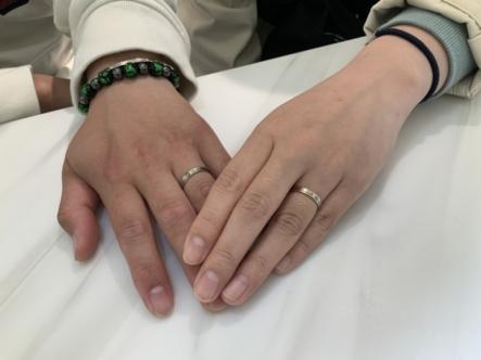 神戸市須磨区 FISCHERの結婚指輪をご成約頂きました