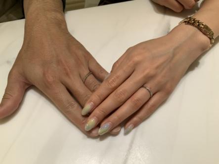 神戸市西区 ECTUROとLAPAGEの結婚指輪をご成約頂きました