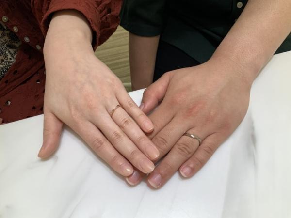 神戸市北区 LAPAGEの結婚指輪をご成約頂きました