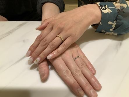 姫路市 PulitoとYUKAHOJOの結婚指輪をご成約頂きました