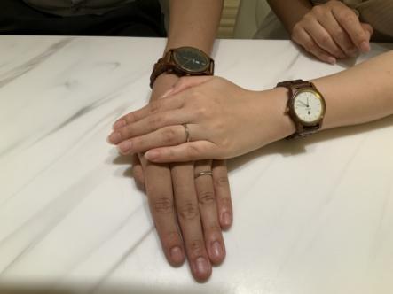 神戸市兵庫区 YUKA HOJOの結婚指輪をご成約頂きました