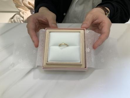 大阪市淀川区 AMOUR AMULETの婚約指輪をご成約頂きました