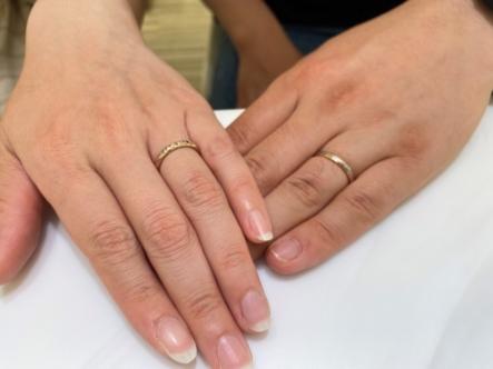 兵庫県尼崎市 FISCHERとMakanaの結婚指輪をご成約頂きました