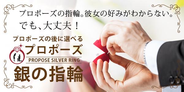 婚約指輪 プロポーズ 銀の指輪 画像