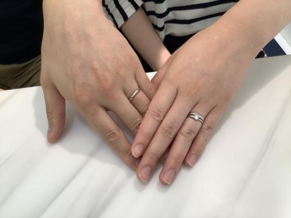 兵庫県三木市 neu spurの婚約指輪と結婚指輪をご成約頂きました